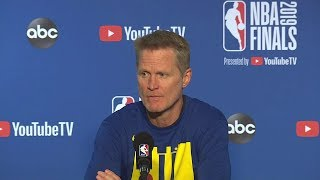 Steve Kerr Full Interview - Game 3 Preview | 2019 NBA Finals Media Availability