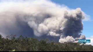 Hawaii Kilauea Large Explosions took place Flumes Come out Volcano Eruption