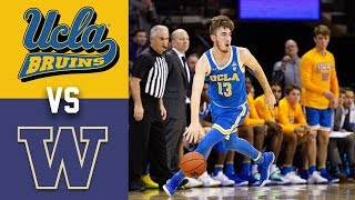 2020 College Basketball UCLA vs Washington Highlights