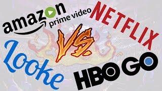 GUERRA DE STREAMING - NETFLIX, AMAZON PRIME VIDEO, HBO GO OU LOOKE: QUAL O MELHOR?