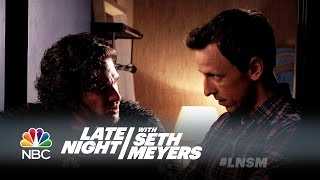Seth Brings Jon Snow to a Dinner Party - Late Night with Seth Meyers