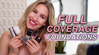 5 FULL COVERAGE FOUNDATIONS That WON'T Make You CAKEY (& 4 TO AVOID) | Jamie Paige