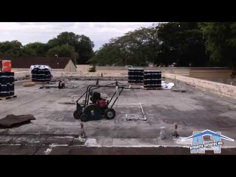 Miami Commercial Roofing - Soprema Sopralene Flam 2 ply roofing system -