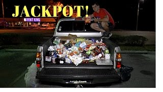 HUGE Dumpster Diving Haul Jackpot Fills My Truck Tons of Food!!!!!