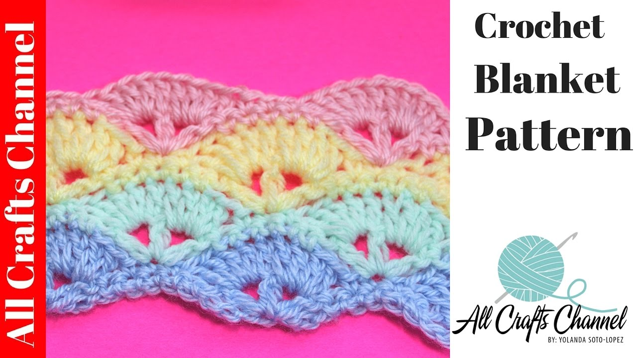Learn To Crochet Baby Blanket Pattern Subtitulos En