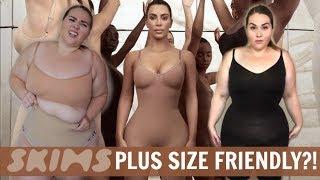 SKIMS Plus Size Try-On Review! Kim Kardashian's Shapewear  |Sarah Rae Vargas|