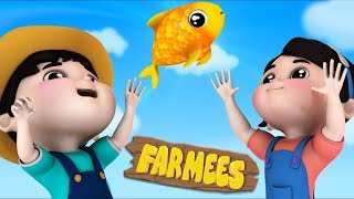 12345 Once I Caught A Fish Alive | Nursery Rhymes For Children | Cartoons by Farmees