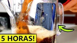 Galaxy S9 vs COCACOLA - CONGELADO 5 HORAS!