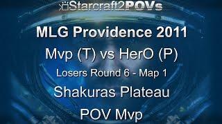 SC2 WoL - MLG Providence 2011 - Mvp vs HerO - LR6 - Map 1 - Shakuras Plateau - Mvp