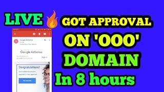 Got AdSense approval 🔥 in 8 hours | AdSense approval in '000' Website