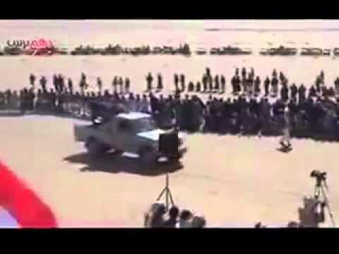 أول عرض عسكري لقبائل سنية في شمال اليمن