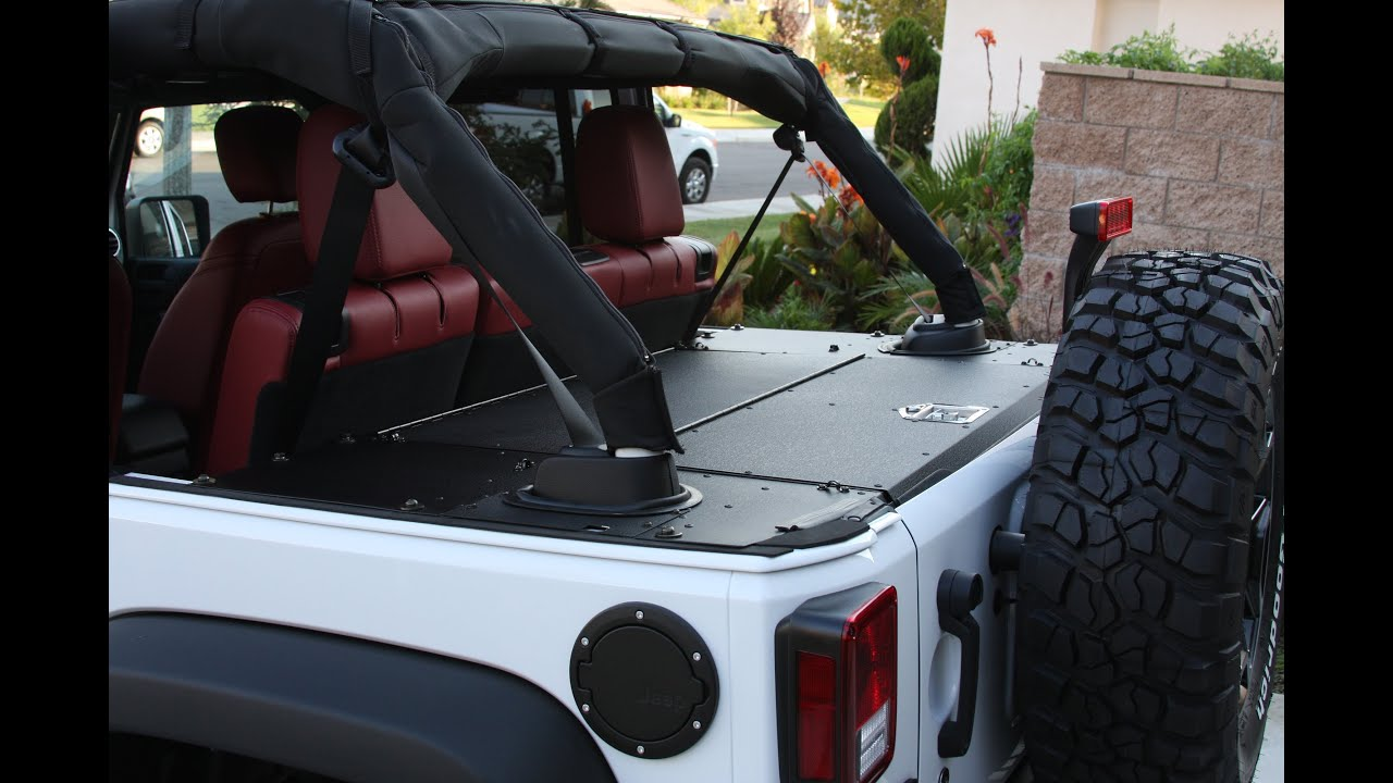 Aries Automotive Security Cargo Lid Install 2013 Jeep