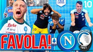 FAVOLA!!! NAPOLI 4-1 ATALANTA   LIVE REACTION TIFOSI NAPOLETANI HD