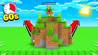 MINECRAFT but LAVA rises every SECOND!