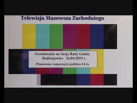 Sesja Rady Gminy Radziejowice 26 04 2019