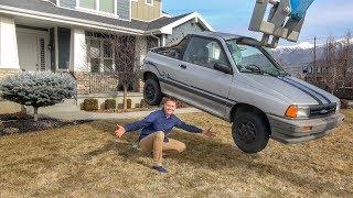 DESTROYING A CAR IN MY FRONT YARD!