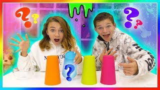MYSTERY CUP SLIME MAKING CHALLENGE | Kayla Davis