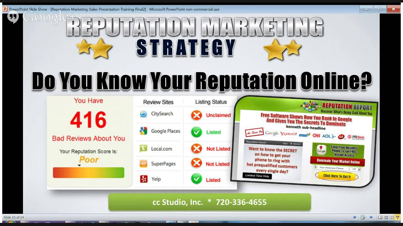 Reputation Management vs.Reputation Marketing