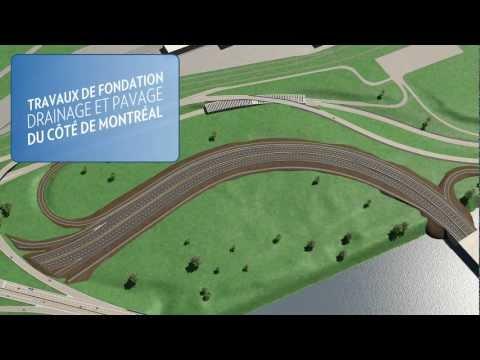 Projet du nouveau pont de contournement IDS reliant Montréal à l'Ile des Soeurs : maintien du nombre de voies actuelles, élargissement de la piste cyclable et ajout d'une voie dédiée au transport collectif pour les autobus aux heures de pointe.