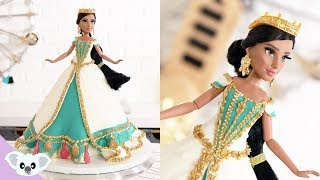 PRINCESS JASMINE DOLL CAKE | Aladdin Birthday Party| Cake Art | Koalipops