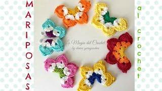 Cómo hacer Mariposas al Crochet