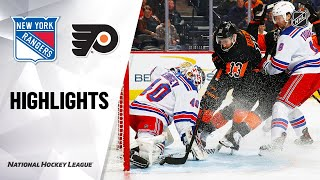 NHL Highlights | Rangers @ Flyers 02/28/20