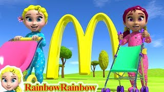 Lily & Sissy Go to the Restaurant ❤ 3d Cartoon For Kids & Children