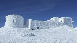 WORLDS BIGGEST SNOW FORT! 24 Hour Challenge In An IGLOO