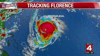 Hurricane Florence closing in on Carolina coast