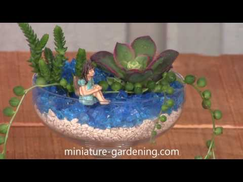 How to Compose a Fairy Garden Wine Glass Planter - Video by Miniature Gardening
