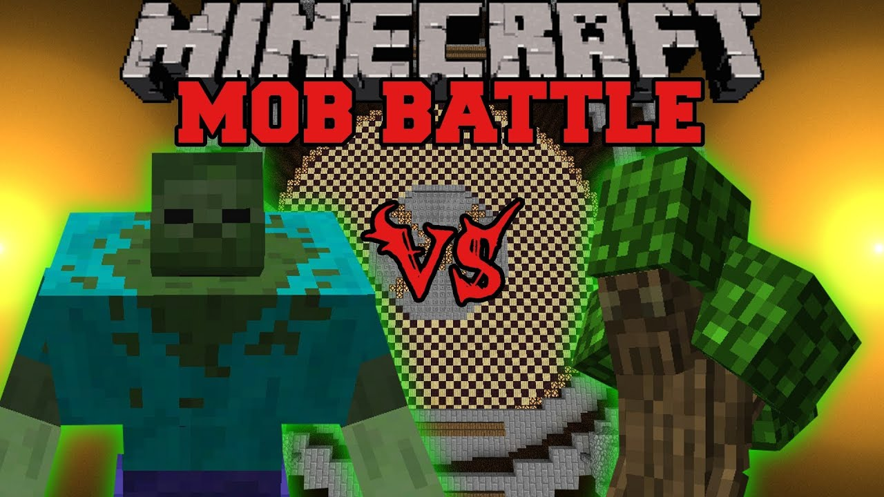 Mutant Zombie Vs Ent Lord Minecraft Mob Battles Angry