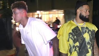 Kyle Kuzma Parties With Odell Beckham Jr. After Romantic 4th With Kendall Jenner