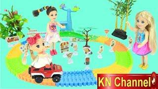 Đồ chơi trẻ em THÀNH PHỐ KHỔNG LỒ CỦA BÚP BÊ BARBIE tuyệt đẹp | BÀI HỌC GIAO THÔNG
