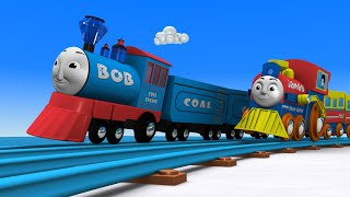 Bob the Train - Choo Choo train - Toy Factory - Cars for kids - Cartoon Cartoon - Toy Train - JCB