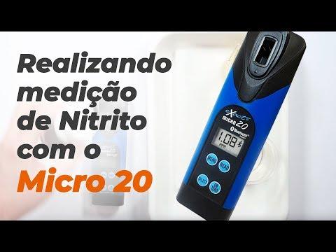 Realizando medição de Nitrito com o Micro 20