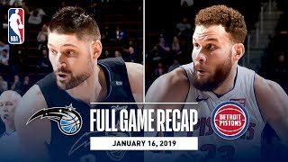 Full Game Recap: Magic vs Pistons | Down To The Wire Action In Detroit