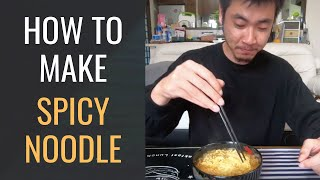 How To Make Spicy Noodle l Japanese-Style