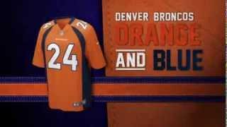 Denver Broncos uniform and uniform color history