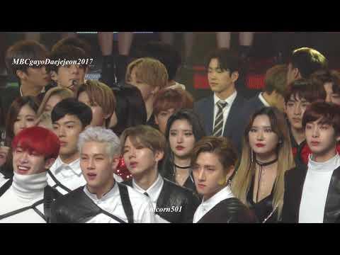 171231 artist reaction to seventeen  MBC2017