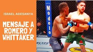 Gran sorpresa en la UFC, gana Adesanya a Gastelum