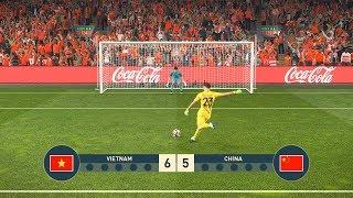 VIETNAM vs CHINA - PENALTY SHOOTOUT - PES19