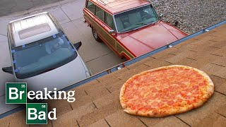 Walter White Brings Pizza to the House for Family Dinner - Breaking Bad: S3 E2 Clip