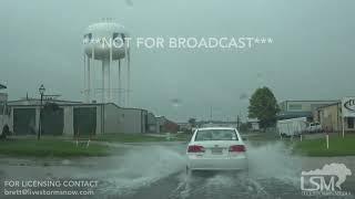 7-14-2019 Baton Rouge, La Flash flooding, heavy rain, drone caputres  tornado, cars driving in water