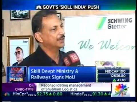 Union Minister Rajiv Pratap Rudy @ SCHWING Stetter  Operator Training School