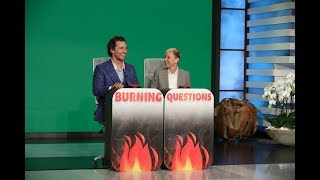 Matthew McConaughey Answers Ellen's 'Burning Questions'
