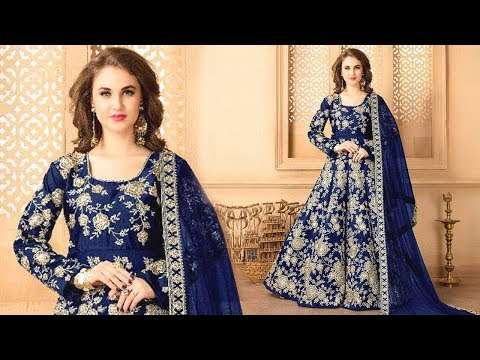 Latest Anarkali Dress Pattern: Anarkalis Floor Length Salwar Suits Designs with Churidar for Wedding