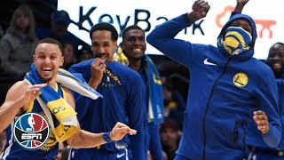 Warriors defeat No. 2 Nuggets in historic fashion | NBA Highlights