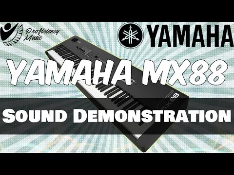 Yamaha MX88: Sounds Demo (No Talking, Just Playing)