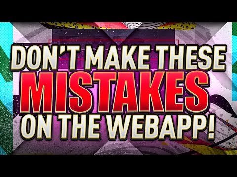 DON'T MAKE THESE MISTAKES ON THE FIFA 20 WEB APP!! FIFA 20 Ultimate Team