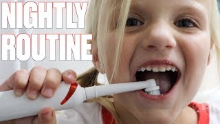 NIGHT TIME BRUSH YOUR TEETH ROUTINE WITH 11 CAVITIES | SCHOOL MORNING & NIGHT TEETH BRUSHING ROUTINE